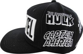 Marvel Hero Names All Over Snapback Hat