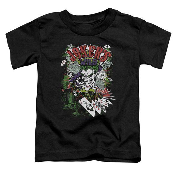 Batman Jokers Wild Short Sleeve Toddler Tee Black Lg T-Shirt