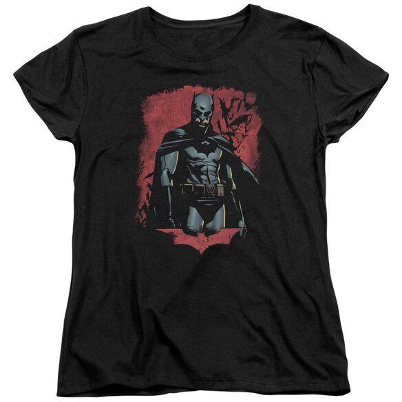 Batman Begins Dead Town Short Sleeve Womens Tee Black T-Shirt