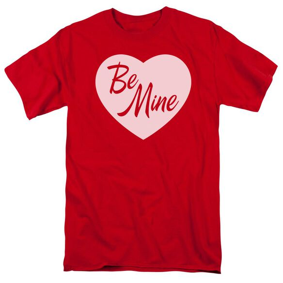 Be Mine Short Sleeve Adult Red T-Shirt