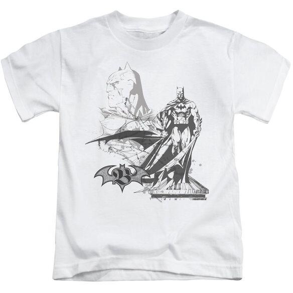 Batman Overseer Short Sleeve Juvenile White T-Shirt