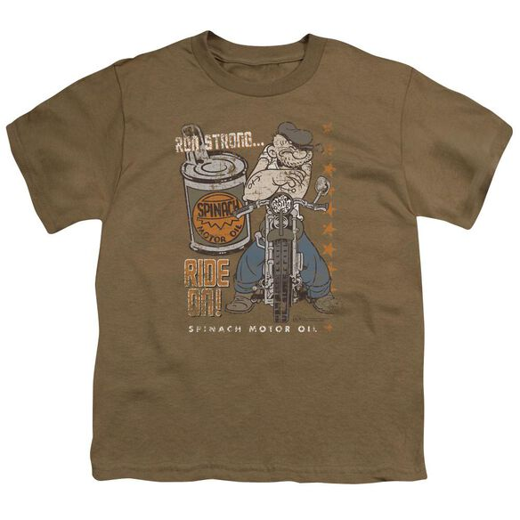 Popeye Ride On Short Sleeve Youth Safari T-Shirt