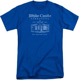 White Castle By The Sack Short Sleeve Adult Tall Royal T-Shirt