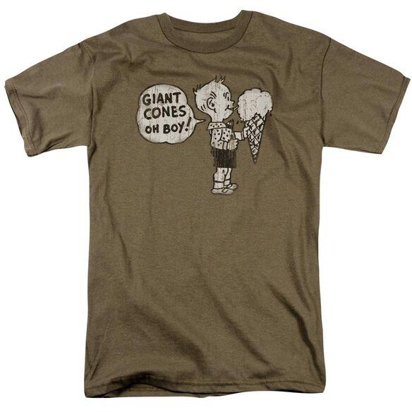Giant Cones Short Sleeve Adult Safari Green T-Shirt