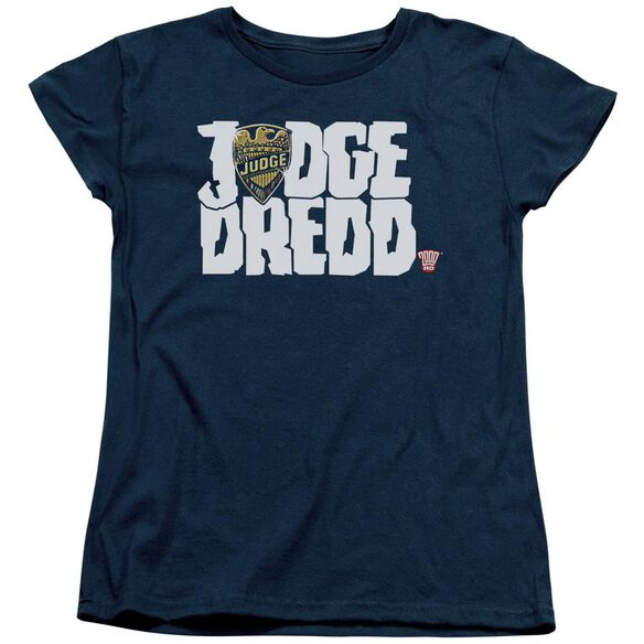 Judge Dredd Logo Short Sleeve Womens Tee T-Shirt