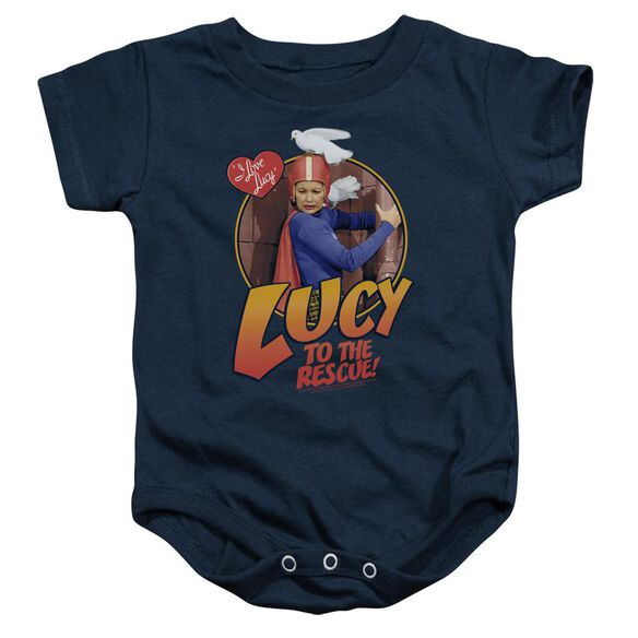 I Love Lucy To The Rescue Infant Snapsuit Navy
