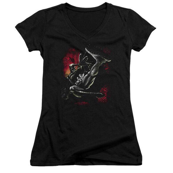 Batman Kick Swing Junior V Neck T-Shirt