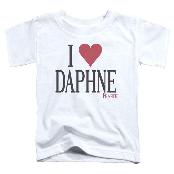 Frasier I Heart Daphne Short Sleeve Toddler Tee White Lg T-Shirt