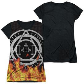 Constantine Flames Short Sleeve Junior Poly Black Back T-Shirt