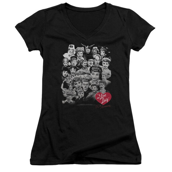 I Love Lucy 60 Years Of Fun - Junior V-neck - Black