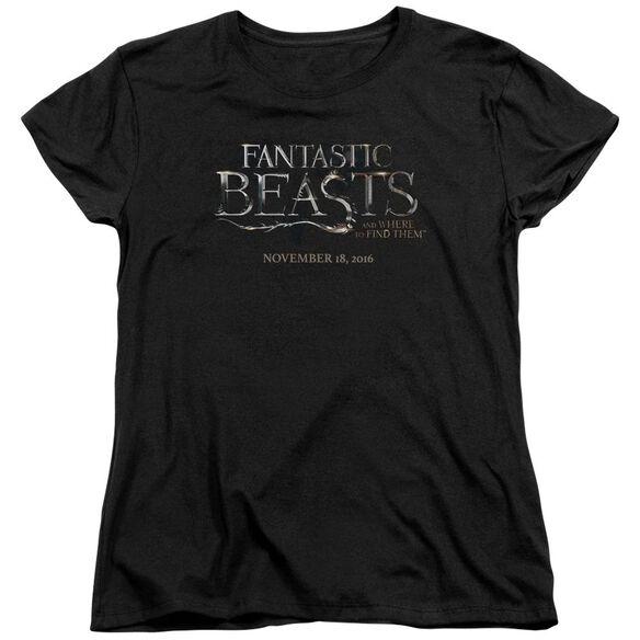 Fantastic Beasts Logo Short Sleeve Womens Tee Black T-Shirt