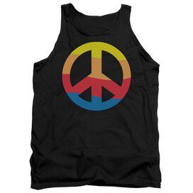 Rainbow Peace Sign - Adult Tank - Black