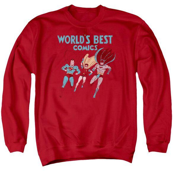Jla Worlds Best Adult Crewneck Sweatshirt
