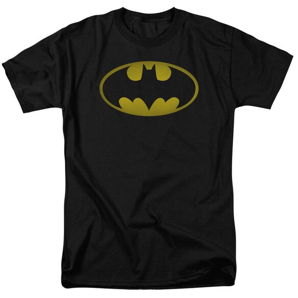 Batman Washed Bat Logo Short Sleeve Adult T-Shirt