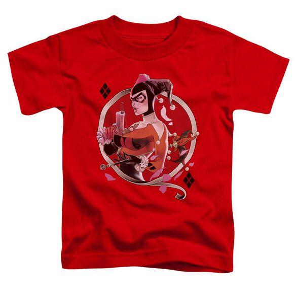 BATMAN HARLEY Q - S/S TODDLER TEE - RED - T-Shirt