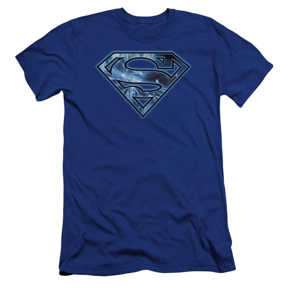 Superman On Ice Shield Premuim Canvas Adult Slim Fit Royal