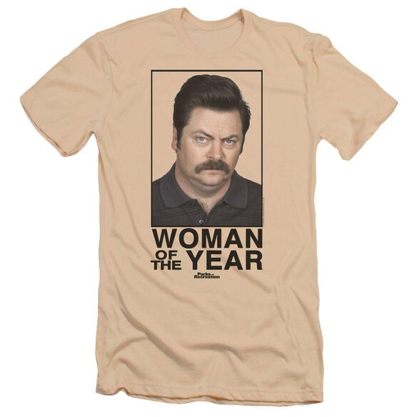 Parks And Rec Woman Of The Year Premuim Canvas Adult Slim Fit