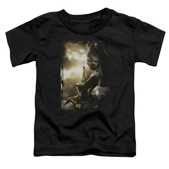 Power Rangers Yellow Zord Poster Short Sleeve Toddler Tee Black T-Shirt