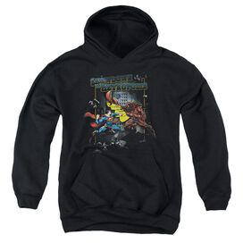 Superman Showdown-youth Pull-over Hoodie