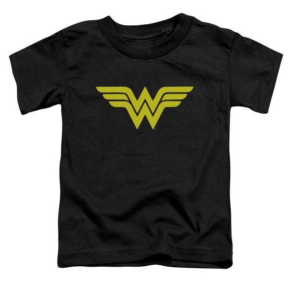 Dc Wonder Woman Logo Short Sleeve Toddler Tee Black T-Shirt