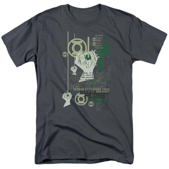 Green Lantern Core Strength Short Sleeve Adult Charcoal T-Shirt