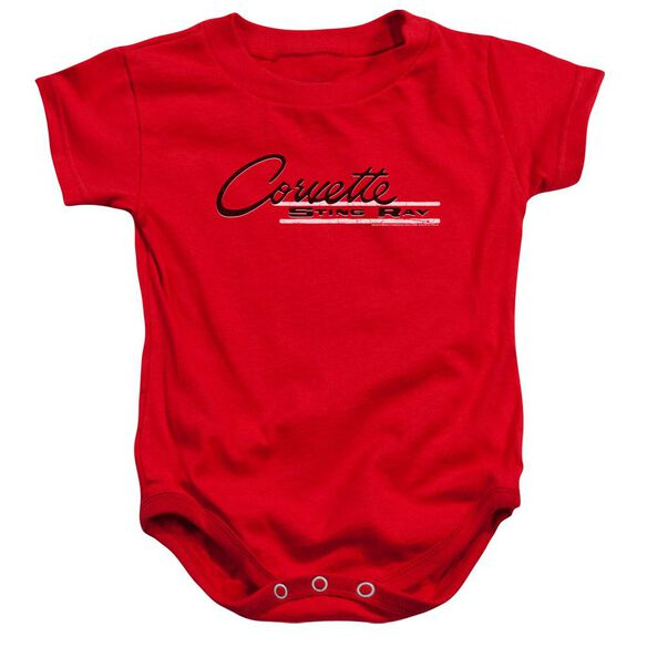 Chevrolet Retro Stingray Infant Snapsuit Red
