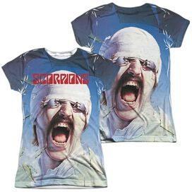 Scorpions Blackout (Front Back Print) Short Sleeve Junior Poly Crew T-Shirt