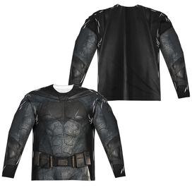 Justice League Movie Batman Uniform (Front Back Print) Long Sleeve Adult Poly Crew T-Shirt