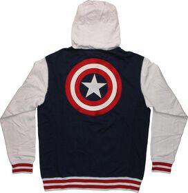 Captain America Contrast Sleeve Zip Hoodie
