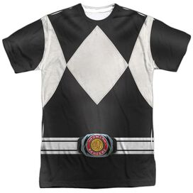 Power Rangers Black Ranger Short Sleeve Adult Poly Crew T-Shirt