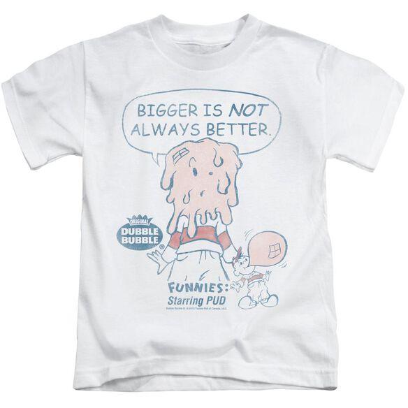 Dubble Bubble Bigger Short Sleeve Juvenile White Md T-Shirt