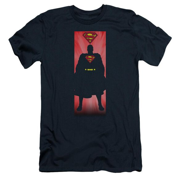 Superman Block Short Sleeve Adult T-Shirt