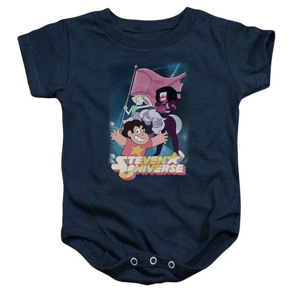 Steven Universe Crystal Gem Flag Infant Snapsuit Navy