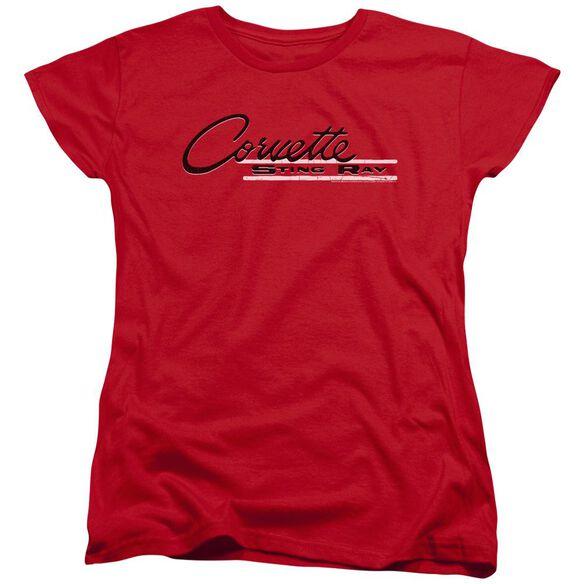 Chevrolet Retro Stingray Short Sleeve Womens Tee T-Shirt