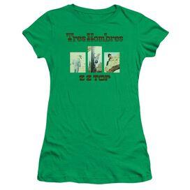 Zz Top Tres Hombres Short Sleeve Junior Sheer Kelly T-Shirt
