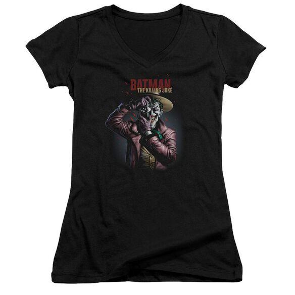Batman Killing Joke Camera Junior V Neck T-Shirt