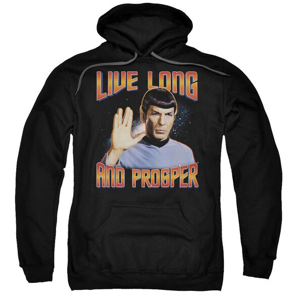 St Original Live Long And Prosper Adult Pull Over Hoodie