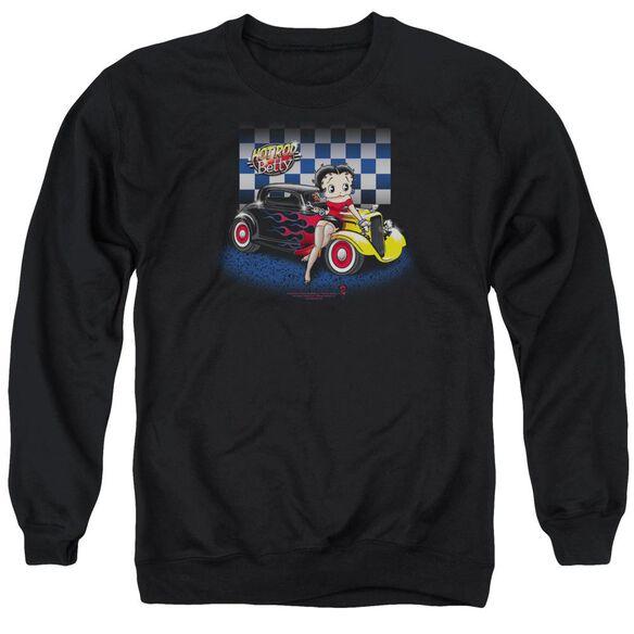 Betty Boop Hot Rod Boop Adult Crewneck Sweatshirt