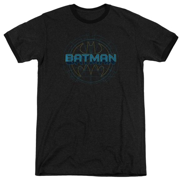 Batman Bat Tech Logo Adult Heather Ringer