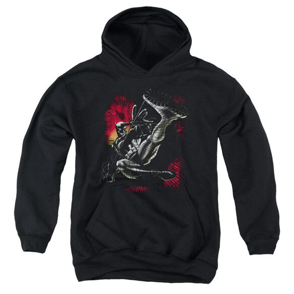 Batman Kick Swing Youth Pull Over Hoodie