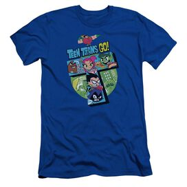 Teen Titans Go T Short Sleeve Adult Royal T-Shirt