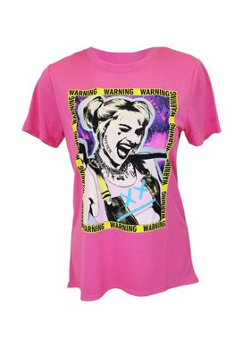 Birds of Prey Harley Quinn Warning Women's T-Shirt