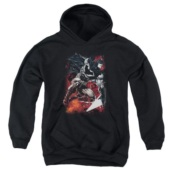 Batman Sparks Leap Youth Pull Over Hoodie