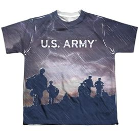 Army Up Hill Short Sleeve Youth Poly Crew T-Shirt
