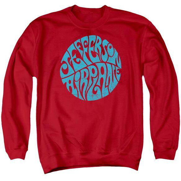 Jefferson Airplane Round Logo Adult Crewneck Sweatshirt