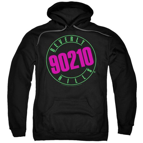 90210 Neon Adult Pull Over Hoodie Black