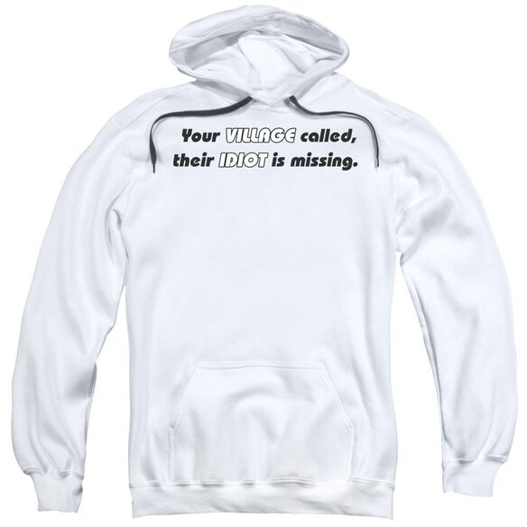 Your Village Called Adult Pull Over Hoodie Black