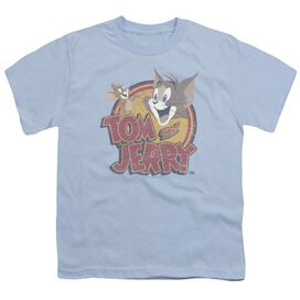 Tom And Jerry Water Damaged Short Sleeve Youth Light T-Shirt