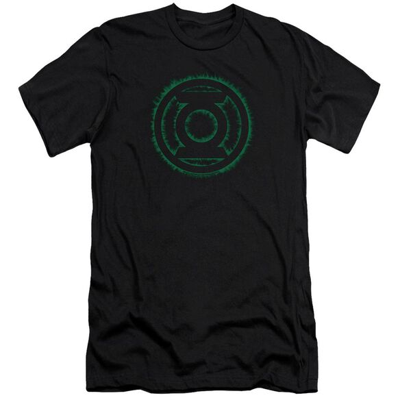 Green Lantern Green Flame Logo-premuim Canvas Adult Slim