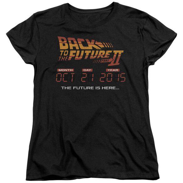 Back To The Future Ii Future Is Here Short Sleeve Womens Tee T-Shirt